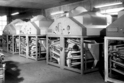 1950er Jahre Entwicklung und Herrstellung von Getreidereinigungsmaschinen bei Zuther