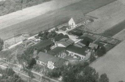 Firmengelände der Zuther GmbH in Karwitz in den 1960er Jahren in den 19