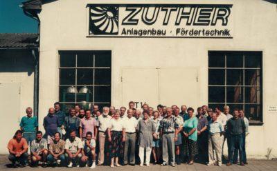 Belegschaft der Zuther GmbH 1996 in Karwitz