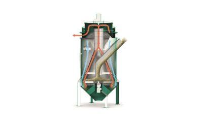 Getreidereiniger Vortex, arbeitet nach dem Windsichter Prinzip.