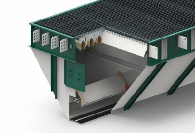 3d graphic for planning and construction a grain collector, by the manufacturer Zuther