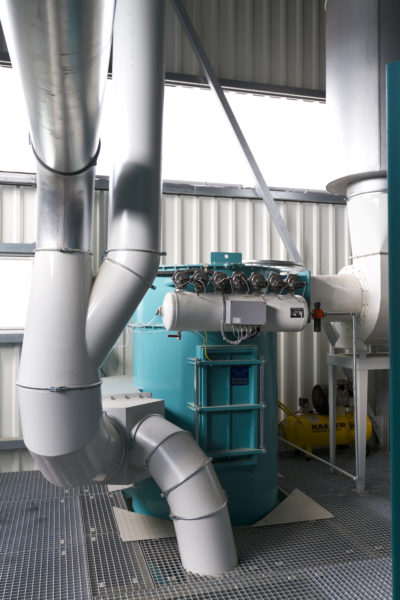 Zuther dedusting system in a small, modern grain plant