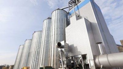 A grain silo facility with drying technology by plant builder Zuther