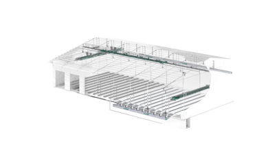 3D graphic for planning and construction of a flat storage system, technology by Zuther
