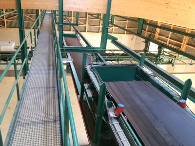 Flachlager Hallenverteilung mit Förderbändern des Herstellers Zuther aus KarwitzHerrst
