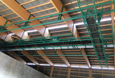 A flat storage with an automated grain storage system by Zuther