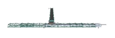 3D Rendering eines Skrapper - Kettenkratzförderer zur Hallenverteilung