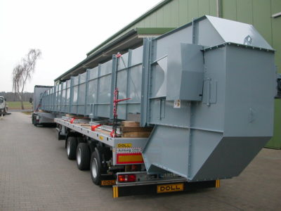 Zuther elevator for bulk material handling for pellets and stones and earth