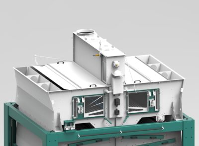 3d graphic of the top of the grain cleaning machine Optima by Zuther