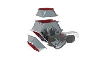 Zuther Klappkasten mit Kryptane ohne Deckel mit zwei Übergängen als 3D Modell