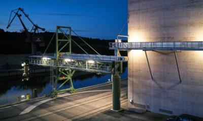 Zuther Verladeanlagen für Getreideverladung für Schiffe in einem Hafen