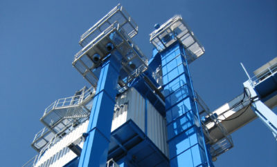 Bucket elevators conveyor technology for stones and earth from Zuther in use
