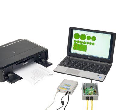 Zuther Temperaturüberwachung einer Getreide Siloanlage - Übersicht auf einem Laptop